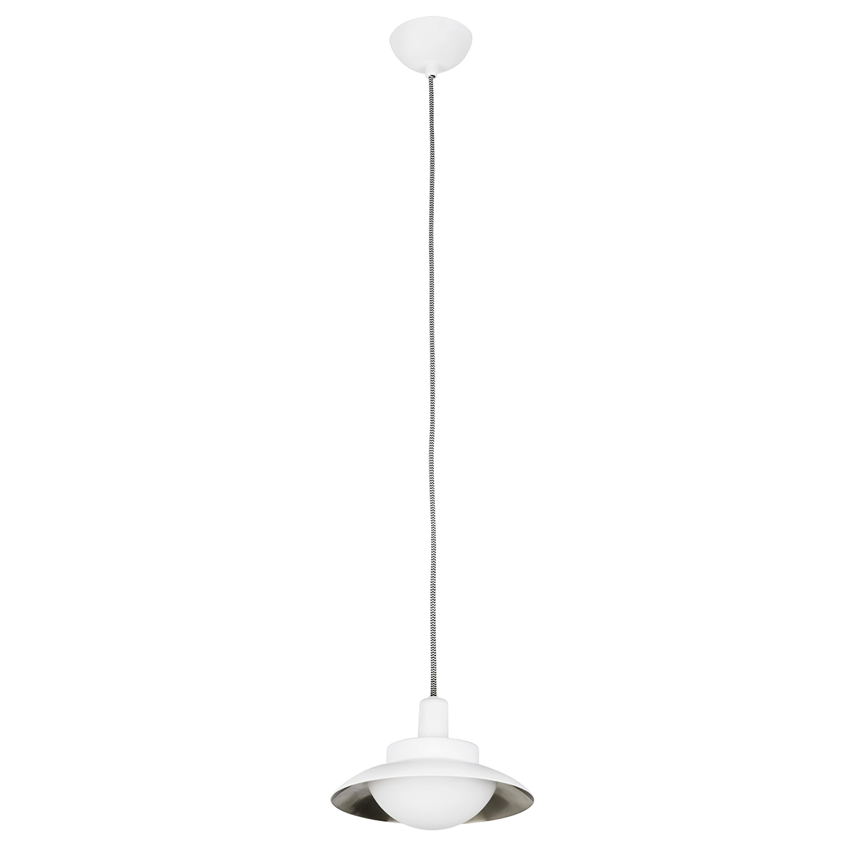 Pendul LED modern SIDE alb/nickel 62137 Faro Barcelona