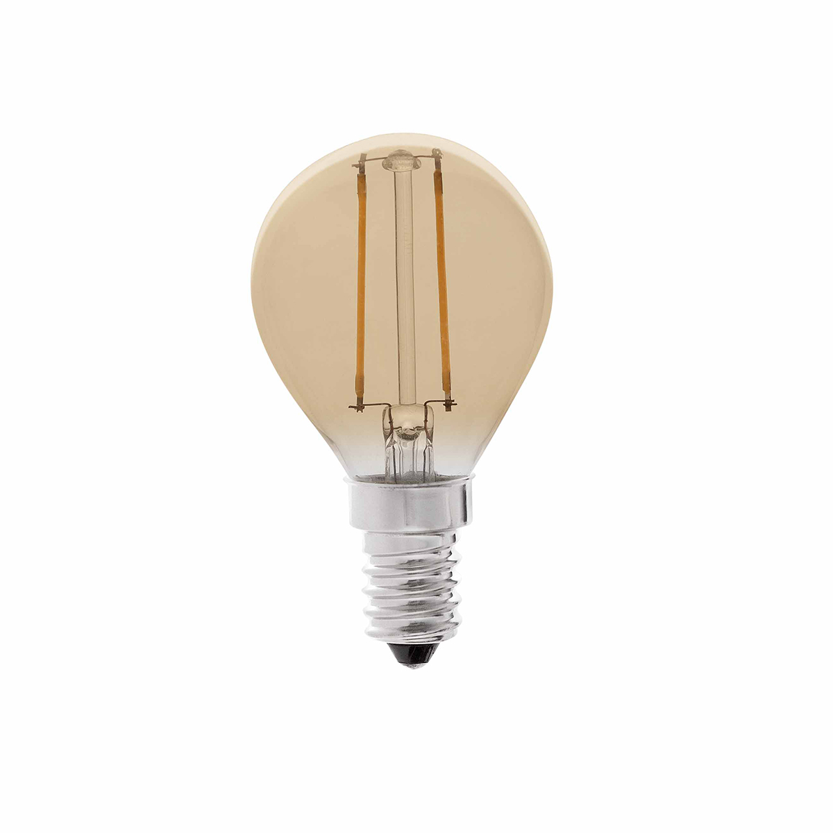 Bec LED decorativ FILAMENT AMBER LED E14 2W 2200K 17413